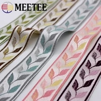 5meters meetee 3035mm wide embroidered jacquard lace trim leaf ribbon diy handmade curtain textile garment decoration material
