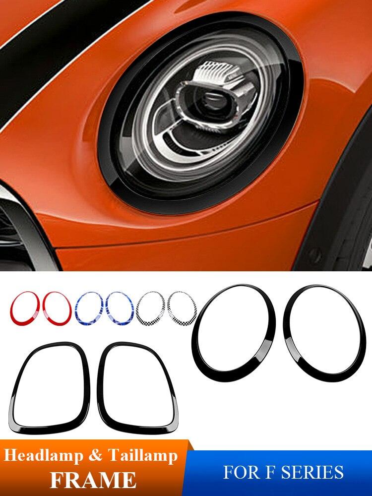 Automóvil faro decoración marco luz trasera pegatina coche estilo para BMW MINI Cooper one + S Clubman Coutryman F54 F55 F56 F60 Jcw