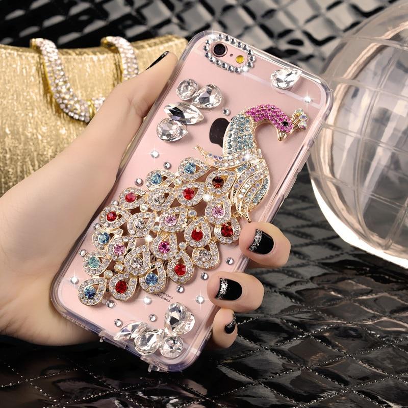 Sunjolly Rhinestone Case coque for Xiaomi Redmi Note 5 Pro 7 6 Pro 4 3 2 4X 7A 7 6A 6 5A 5 Plus Diamond Bling Phone Case Cover