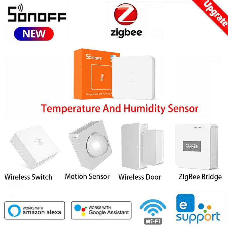SONOFF ZigBee 3.0 Smart Temperature And Humidity Sensor /Wireless Switch/Door Sensor Work With Alexa Google Home SONOFF ZBBridge