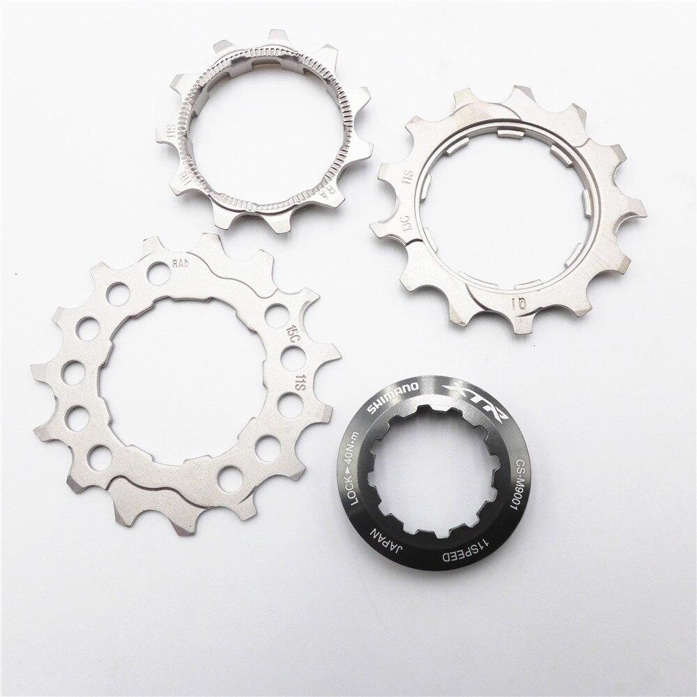 Shimano xtr CS-M9000 cassete 11 velocidade roda dentada 11/13/15 t cog e bloqueio anel roda livre peça de reparo