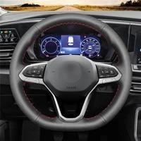 diy anti slip wear resistant steering wheel cover for volkswagen golf 8 passat alltrack variant 19 20 car interior decoration