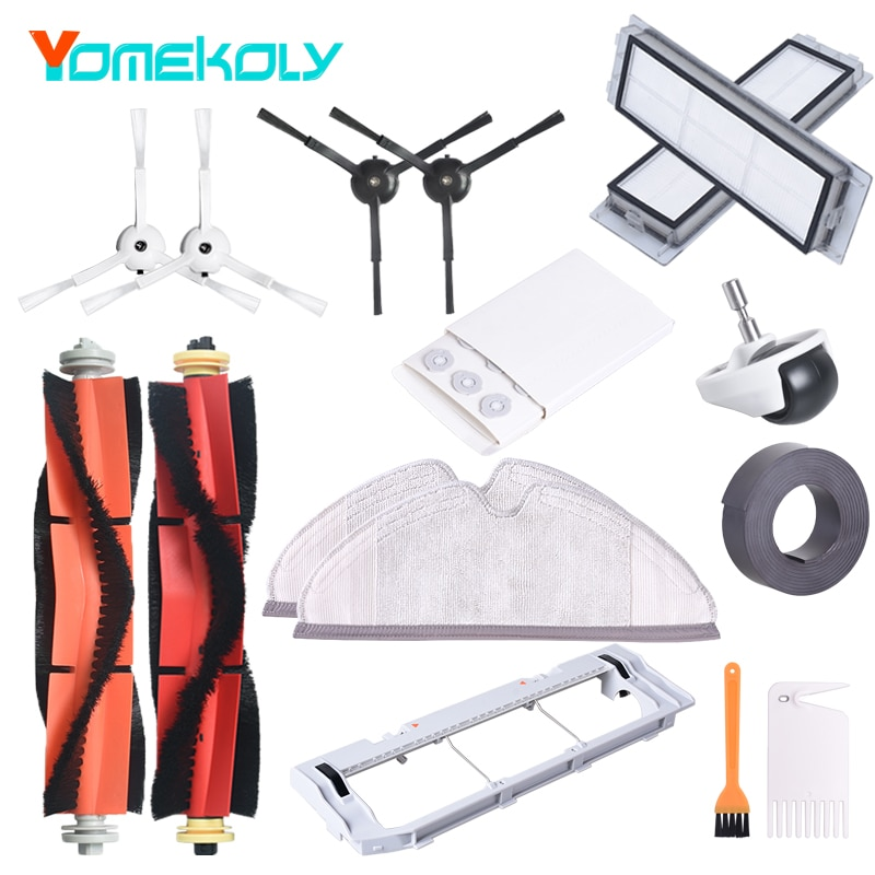 For Roborock S6 MAXV S6 PURE S6 S5 MAX S5 S4 E4 E35 E2 Xiaomi Mijia 1/1S Robot Vacuum Cleaner All Replace Parts Accessories Kits