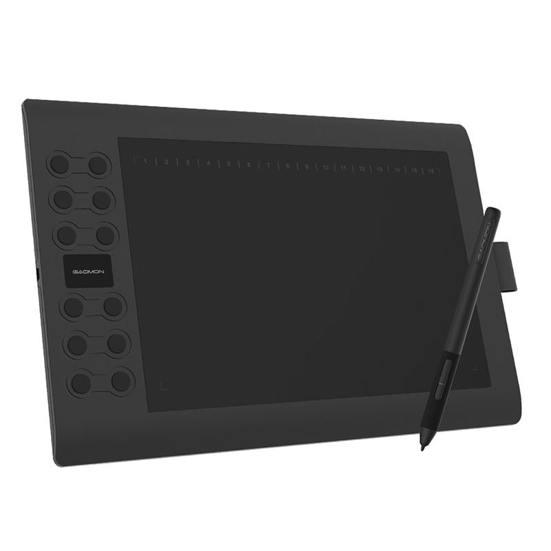 قاومون M106K برو 10 ''لوح رسم الرسومات مع 8192 مستويات الميل المدعومة خالية من البطارية قلم ويندوز/ماك/أندرويد OS