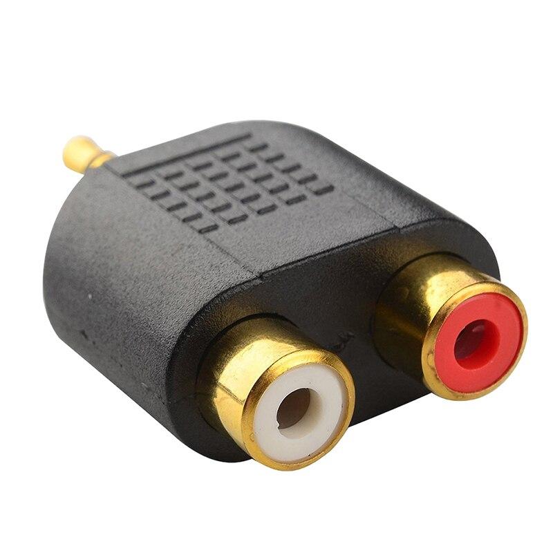 Conector macho de Audio estéreo chapado en oro, 1 unidad, 2 clavijas...
