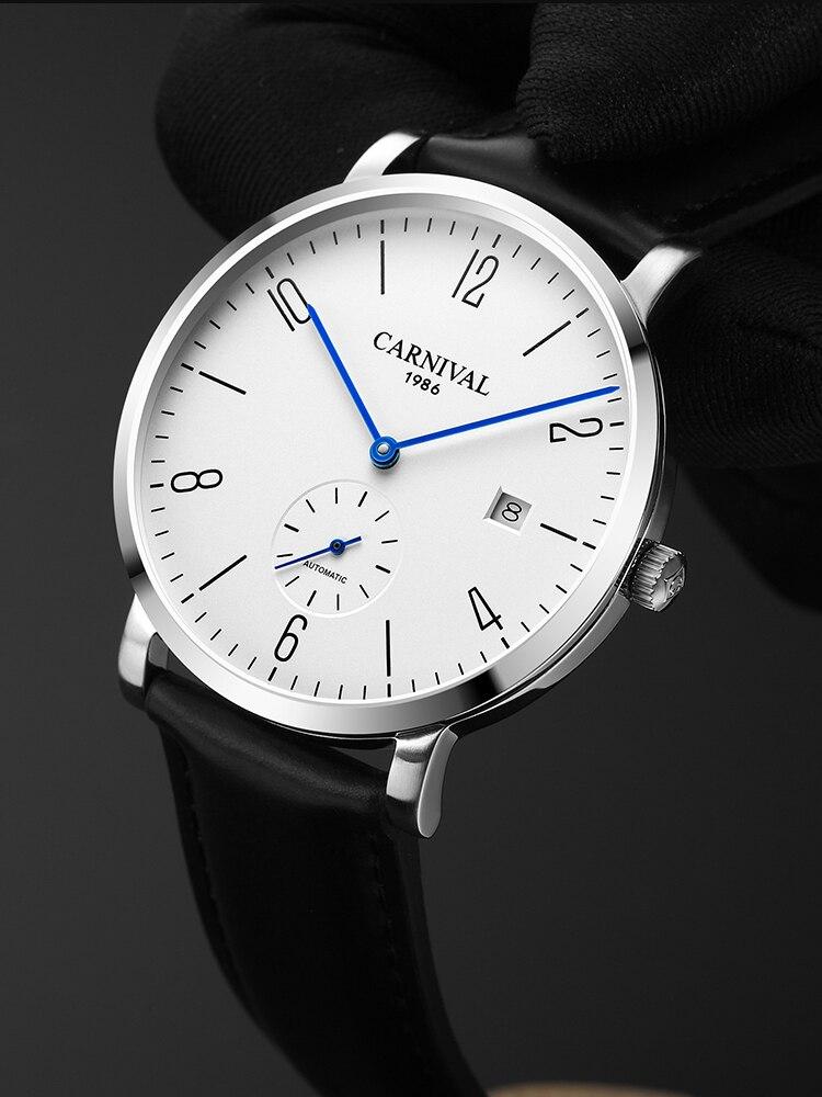 2020 Carnival Watch Men's Simple Mechanical Watch Automatic Fashion Trend Belt Ultra-thin Men's Watch Waterproof