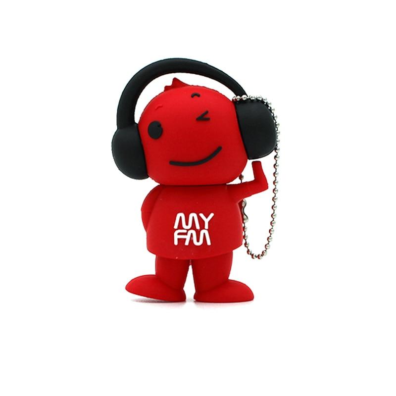 Флэш-накопитель red happy boy, музыкальный накопитель 64 ГБ 32 ГБ 16 ГБ 8 ГБ 4 ГБ 128 ГБ, usb-карта памяти 256 ГБ, флэш-накопитель