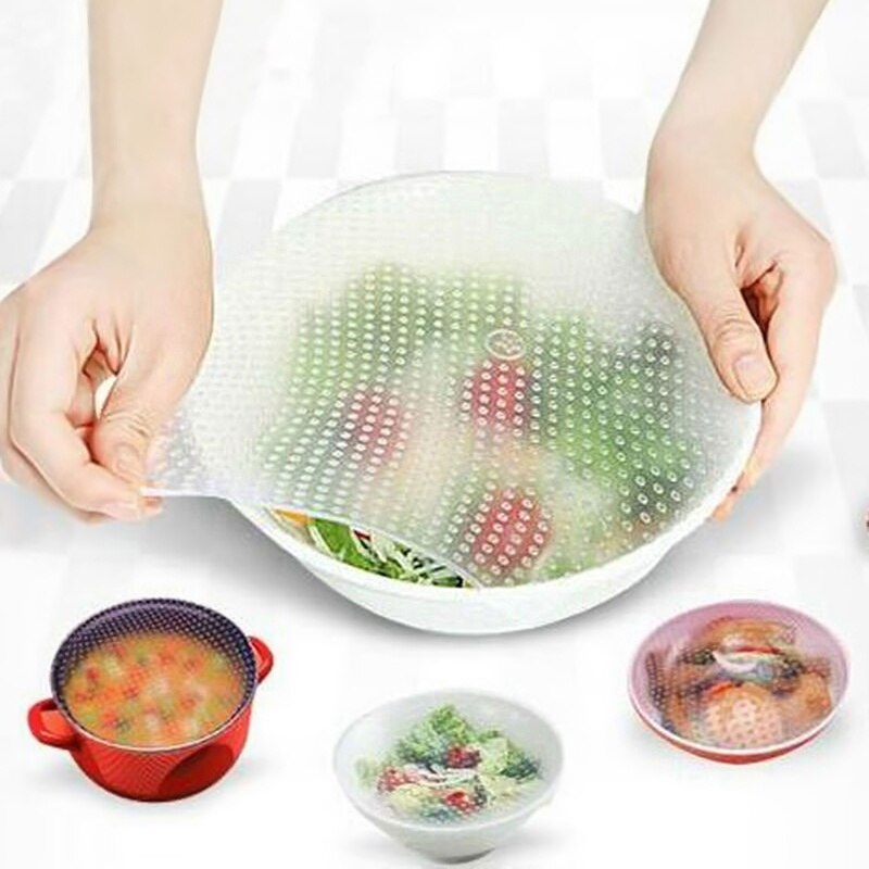 Envoltura de silicona sello de vacío envolver alimentos de comida fresca herramientas de cocina Saran Wrap y bolsas de plástico