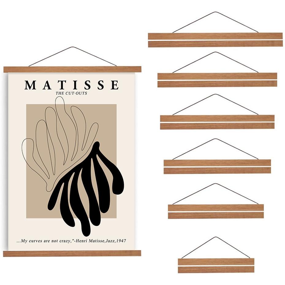 Магнитная деревянная рамка для плаката «сделай сам», фотовешалки из Тиковой сосны, подвесной комплект для картин, печати на холсте, художес...