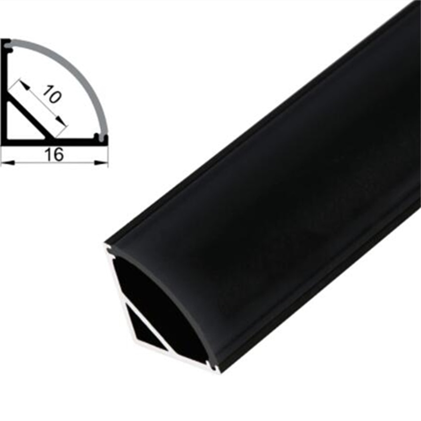 FREE Shipping  Angle Aluminum Profile with Cover and End Caps and Metal Clips for LED Strip Bar Light