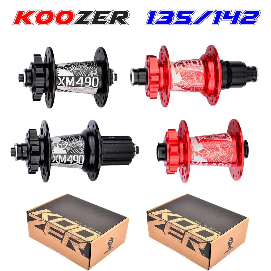 free delivery Koozer XM490 hubs 4 bearings MTB mountain bike hub QR100*15 12*142mm thru32holes disc brake bike hub28 32 36 holes