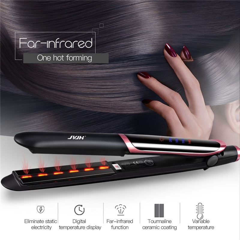 Professional Hair Straightener Curler Hair Flat Iron Negative Ion Infrared Hair Straighting Curling