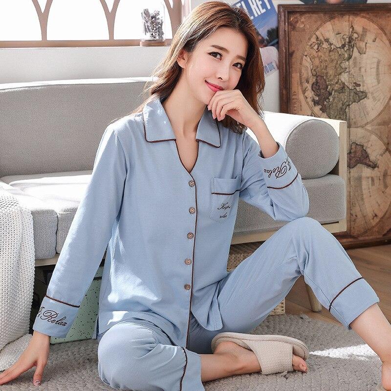 2020 herbst und Winter frauen Pyjamas Lange Ärmel Können Getragen Werden Außerhalb Pijamas Hause Tragen Schlaf Tops Pyjamas für frauen Nachtwäsche