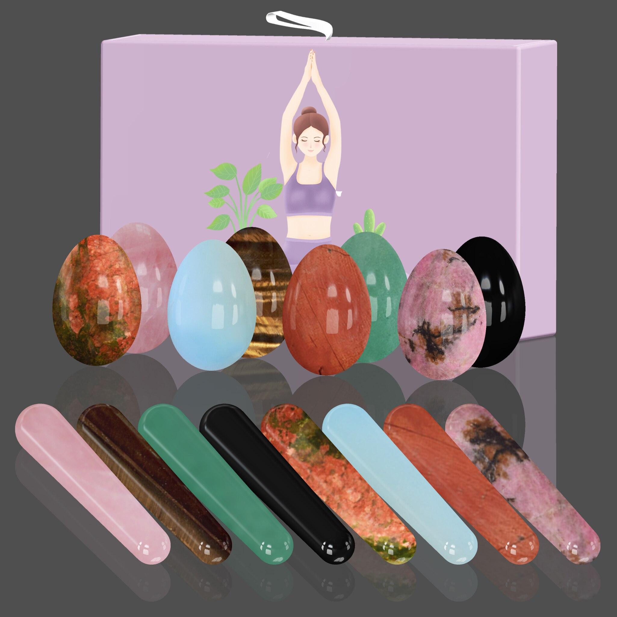 Инструмент для упражнения Кегеля для женщин, нефритовый массажер для укрепления мышц влагалища, йони-палочка, нефритовый массажер