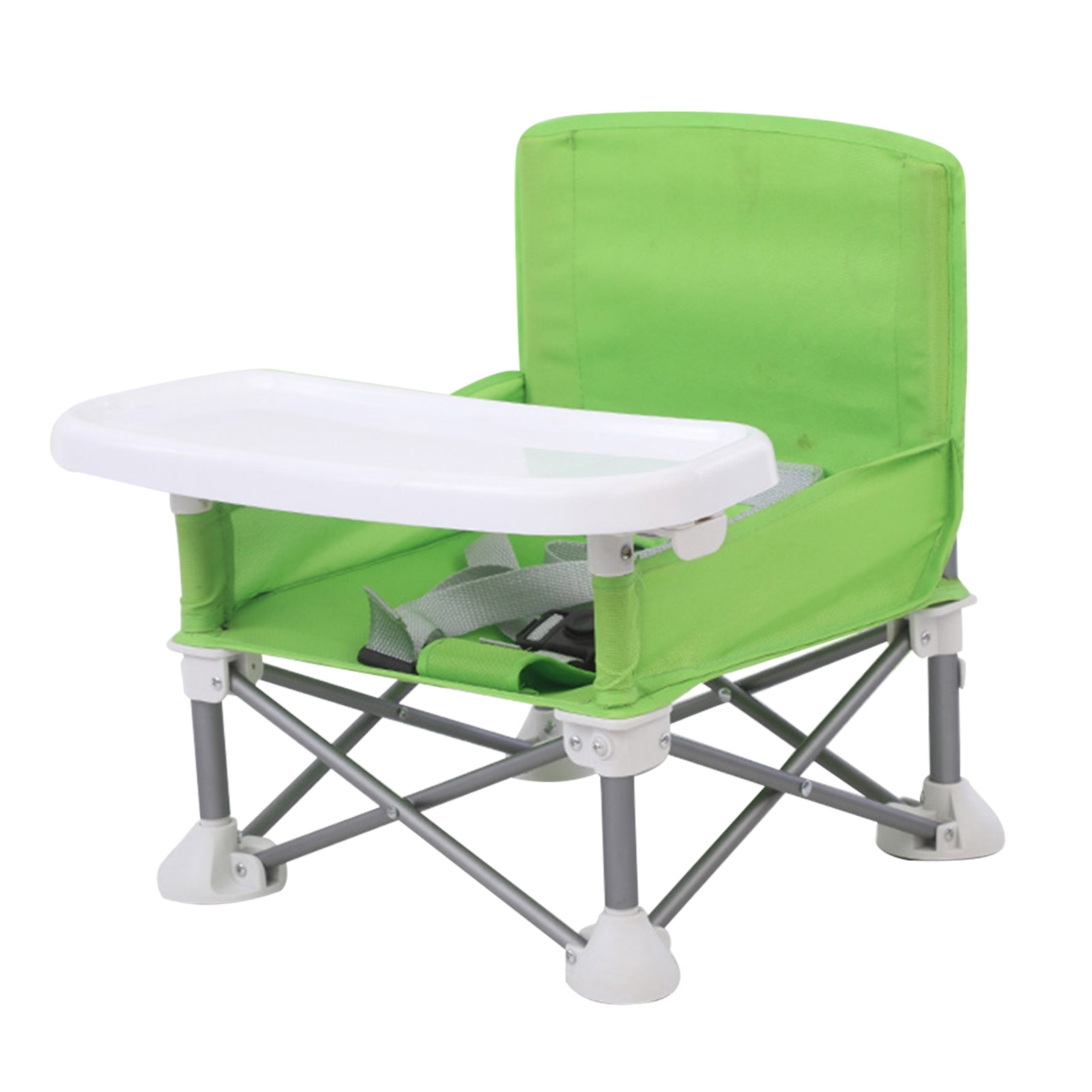 Camping Baby Booster Seat Children Dining Chair Travel With Tray Detachable Portable Foldable Aluminum Alloy Eating Beach Lawn