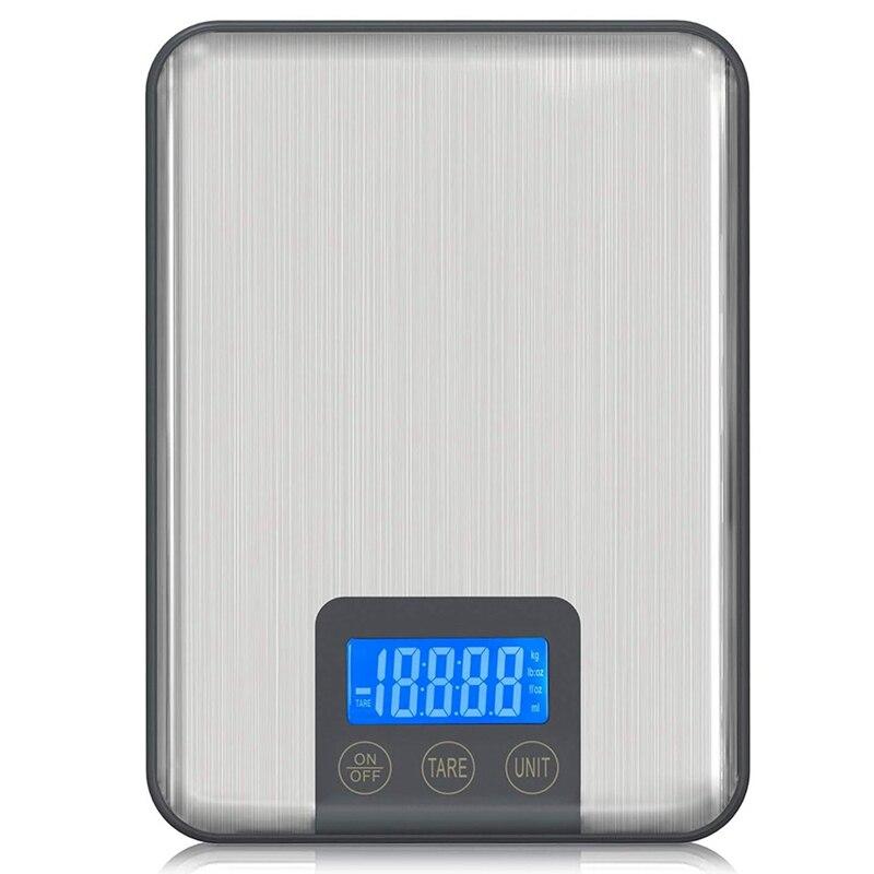 ميزان إلكتروني رقمي محترف 10 كجم ، مقياس مطبخ من الفولاذ المقاوم للصدأ ، اضغط على مقياس الخبز مقاوم للماء