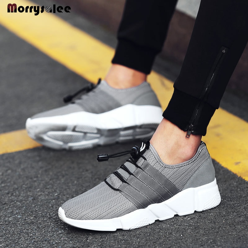 Mesh Men s Shoes Low Top Casual Fabric Breathable Youth Cloth sneakers Platform Sneakers