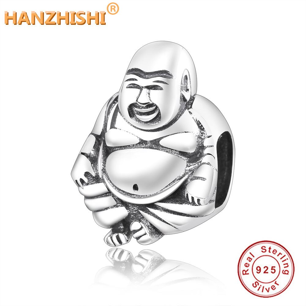 ¡Novedad de 2018! Cuentas clásicas de Plata de Ley 925 de Buddha, compatibles con abalorios europeos originales, fabricación de pulseras, joyería de moda