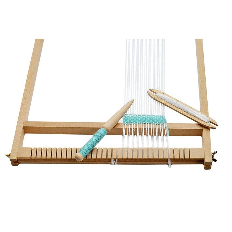 Útil nuevo accesorio de tejido DIY, 1 pieza, jersey de madera, palo de bobina de tejido tapiz de bufanda, un solo cabezal, gancho de ganchillo sólido, herramientas de telar DIY