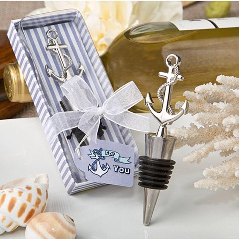 حفل زفاف لصالح هدية و هبات ضيف-بحري تحت عنوان مرساة النبيذ زجاجة سدادة حزب تذكارية 20 قطعة/lotWine فتاحة