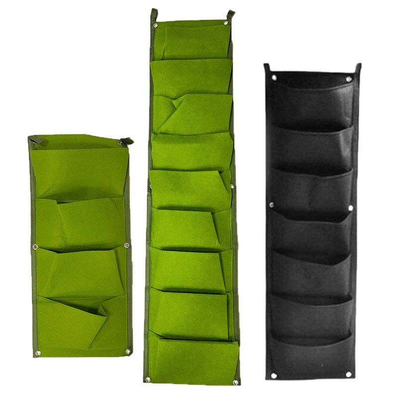 4 7 9 Pockets Green Plant wall hanging Grow Bags growing pots Vertical Garden Vegetable flower Planter Growth fabric bags