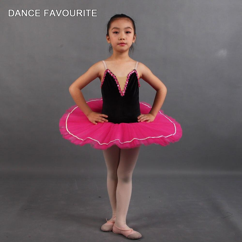 Blanco/rojo/Strapes corpiño de LICRA Tutu pequeño panqueque Tutu ropa para bailar de niño traje de Ballet danza rendimiento Tutu
