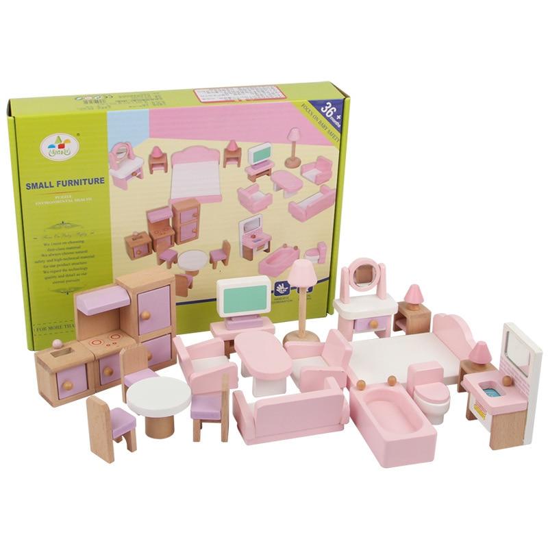 أثاث مصغر للدمى ، مجموعة أثاث بيت الدمى ، ألعاب تعليمية ، هدية للبنات ، 22 قطعة