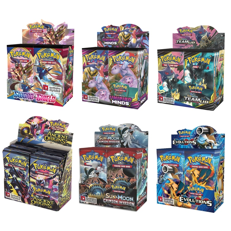 324Pcs/Box Pokemon Cards Newest GX EX
