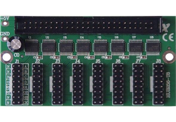 Los módulos Onbon HUB256-T8 color dual o único T8 y T12 funcionan con la tarjeta de control de la pantalla de la serie BX LED