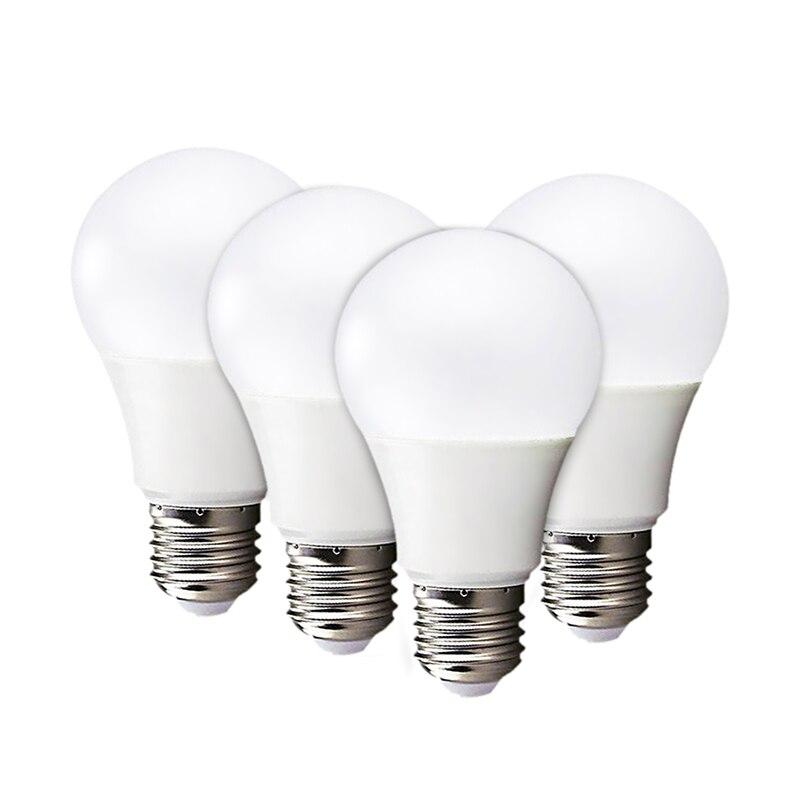 4 pces lâmpada led e27 lâmpada led lampada ampola bombillas 3 w 5 7 9 12 15 18 lâmpadas 110 v 220 v branco quente frio smd2835 luzes led