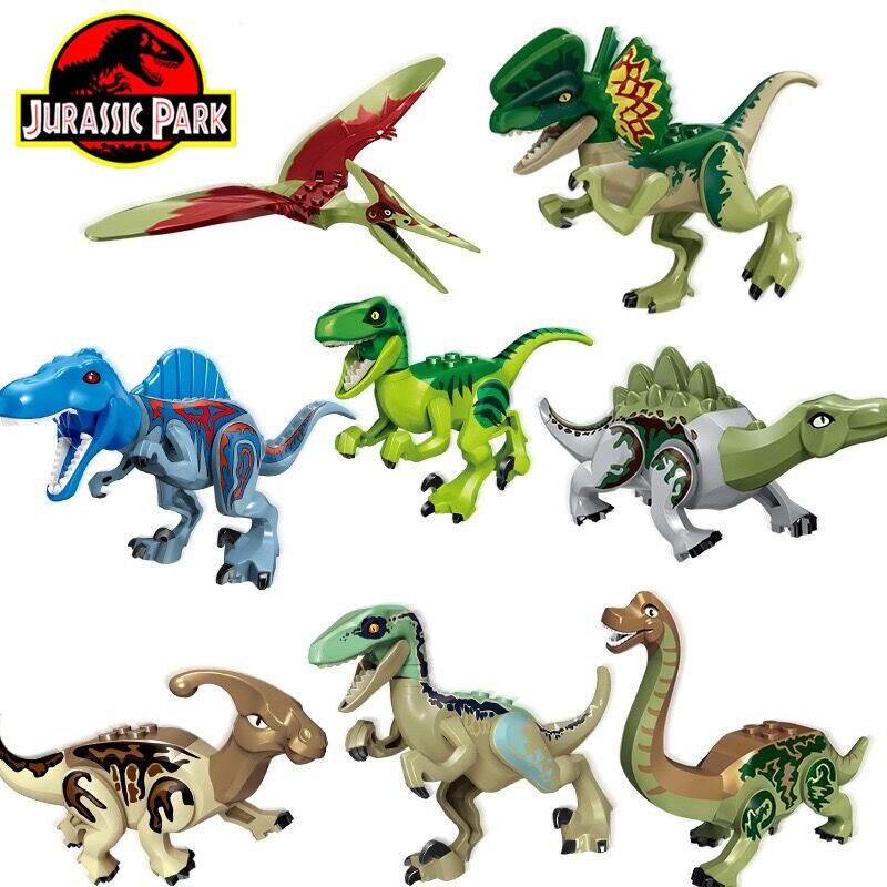 Новые Строительные блоки для мальчиков, развивающие игрушки, 8 шт., совместимые строительные блоки, игрушки, динозавры для детей, подарки на ...