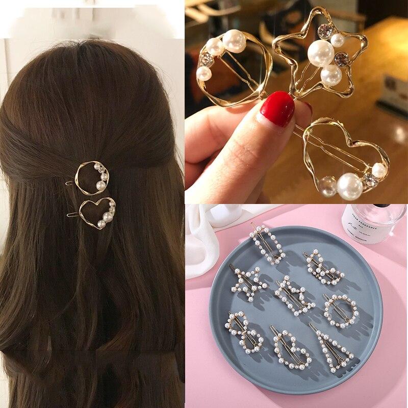 Nowe mody trójkątne gwiazda okrągły geometryczny spinki do włosów dla kobiet dziewczyn Barrette Stick szpilka szpilki do włosów kucyk urządzenie do stylizacji