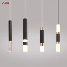 Lámpara colgante led de doble fuente de luz, accesorio que brilla arriba y abajo, para cocina, Isla, comedor, tienda, Bar, decoración de mostrador