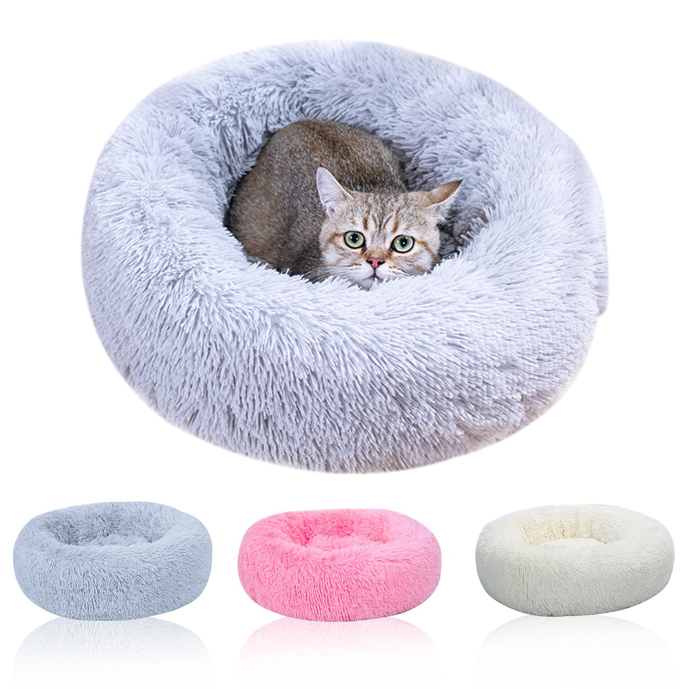 Cama para mascotas nido lavable perrera gato cálido casa cómoda fácil de suministro de limpieza para mascotas cama redonda cálida suave