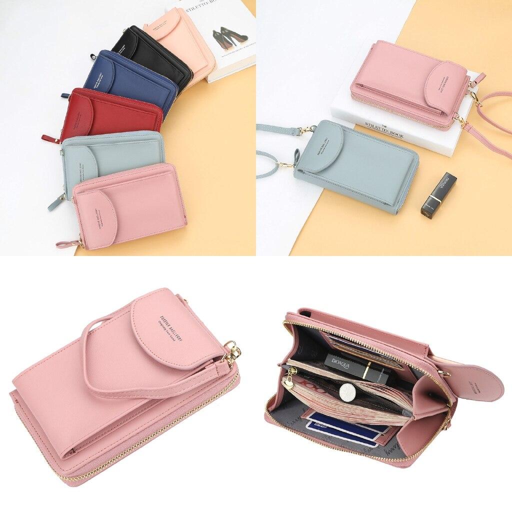 Vrouwen Portemonnee Mini Sling Messenger Bag Koreaanse Stijl Mobiele Telefoon Zak
