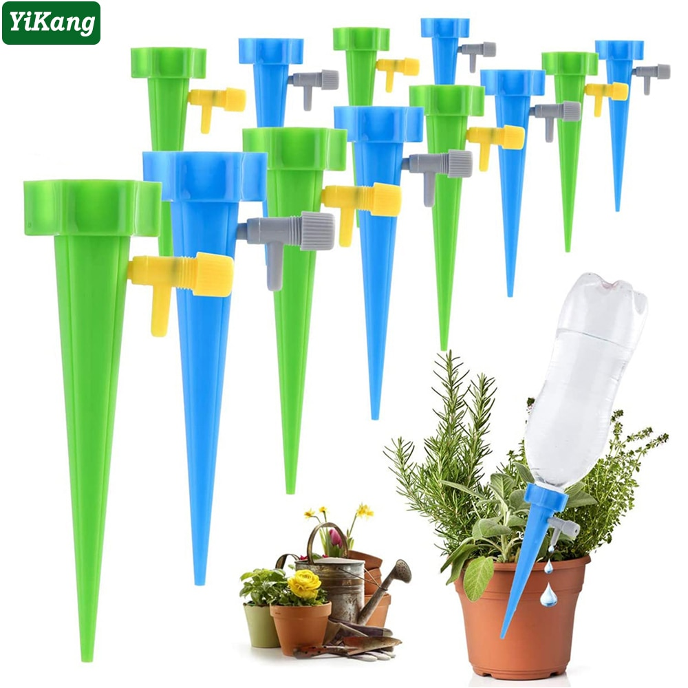 36/24/12 PCS Auto Drip Irrigation Watering System Dripper Spike Kits Garden Household Plant Flower Automatic Waterer Tools