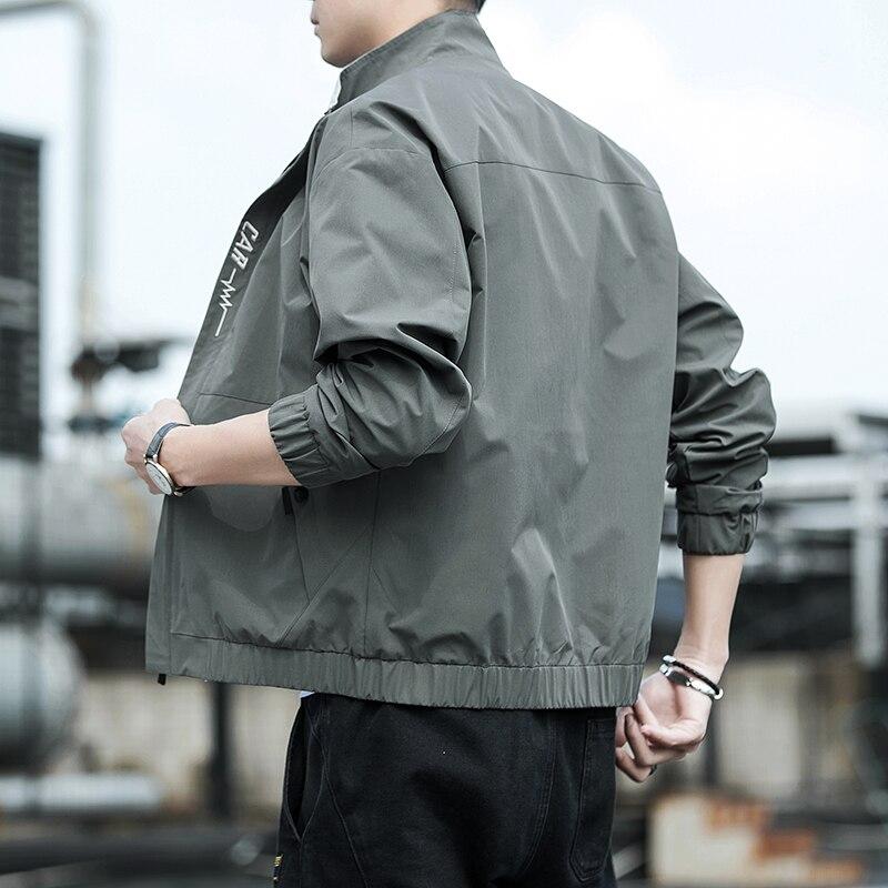 Мужская модная куртка и пальто, новая мужская ветровка, осень 2021, Мужская Уличная одежда, повседневная Уличная одежда, 8177