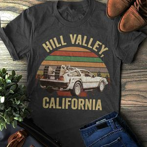 Hill Valley T-shirt, Back To The Future TShirt, Marty Mcfly, Hill Valley, Classic Tees Men Cotton T Shirt