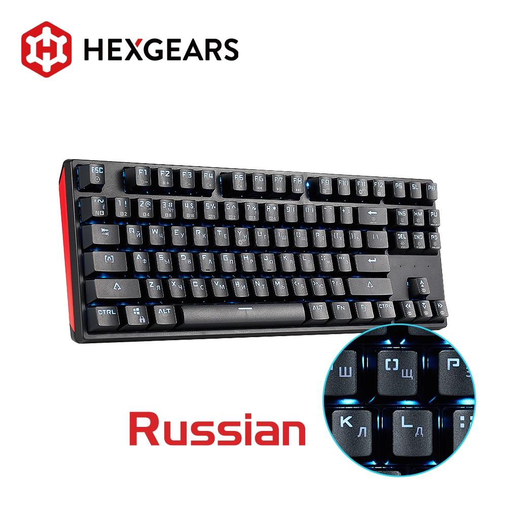 Hexgear-لوحة مفاتيح ألعاب ميكانيكية ، GK12 ، 87 مفتاحًا ، تبديل سريع ، Kailh BOX ، مضاد للظلال ، لوحة مفاتيح روسية ، كمبيوتر شخصي ، ماك ، لاب توب