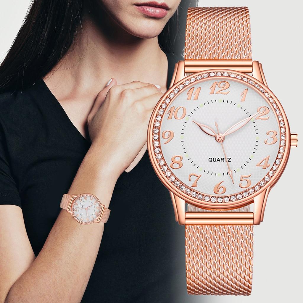 Relógio feminino relógio de pulso de quartzo feminino relógio de pulso feminino montre femme relojes para mujer simples vintage pequeno mostrador