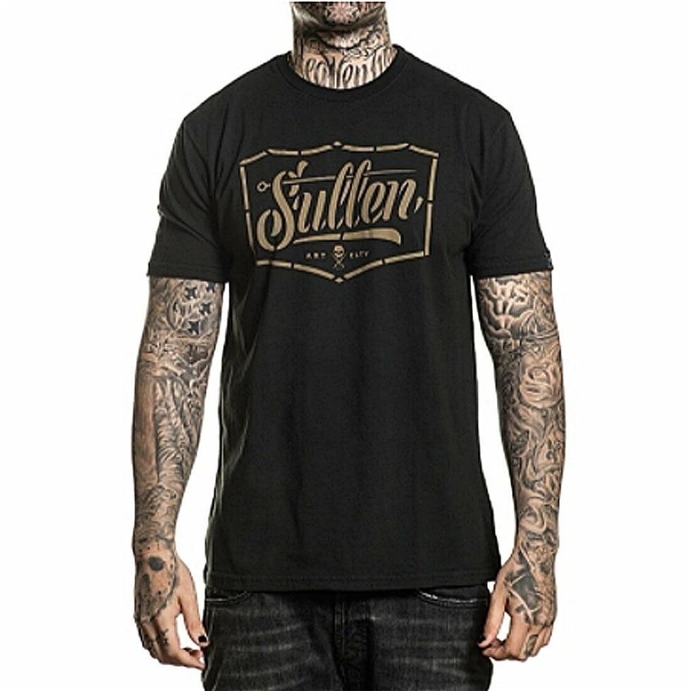 Sullen, camiseta de manga corta con plantilla para hombre, ropa negra Vintage, ropa, Calavera, camiseta de alta calidad