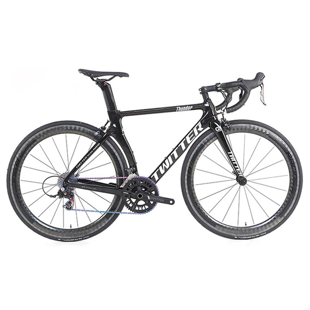 Twitter 700c bicicleta de estrada carbono 22 velocidade da bicicleta estrada quadro carbono garfo roda carbono