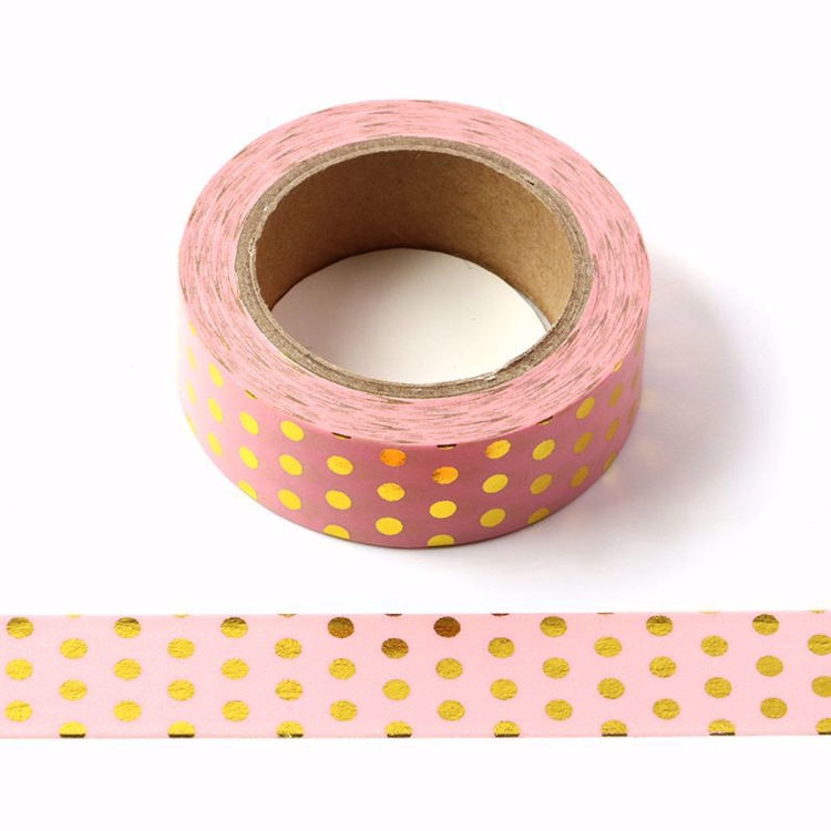 New 1PC 15mm*10m Foil Dot Masking Tape Washi Adhesive Stationery Decorative DIY Cute Cartoon Scrapbooking Paper dot tape