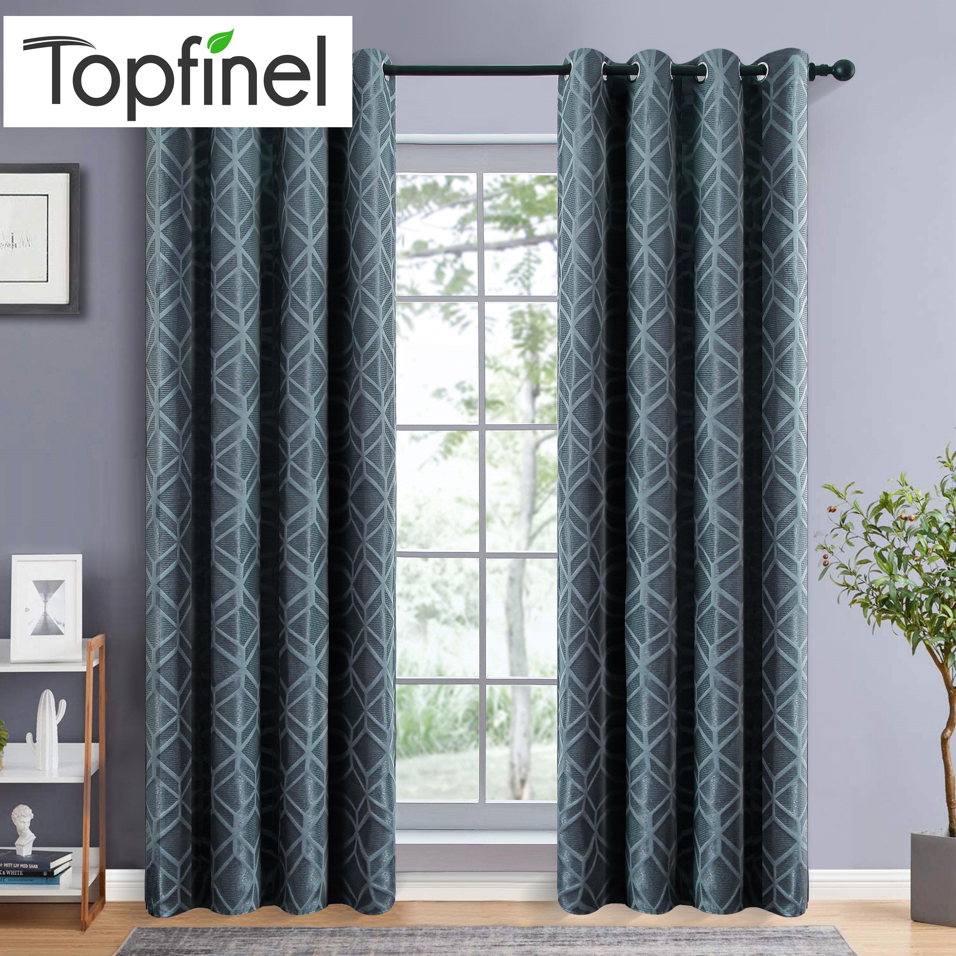 Cortinas opacas Topfinel para dormitorio café sala de estar estilo moderno minimalista Color sólido nórdico cortina de aislamiento térmico