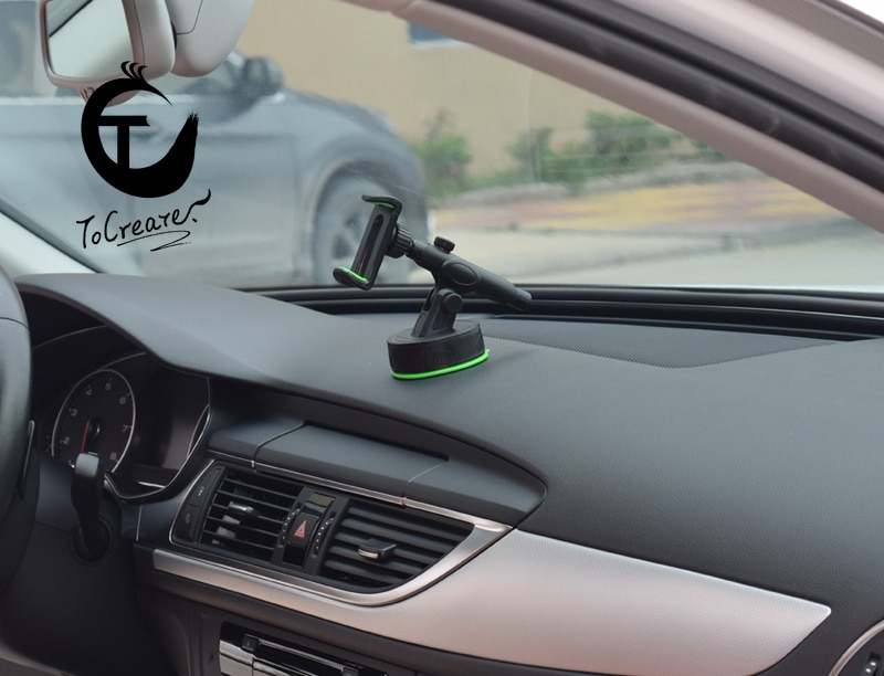 Car Phone Holder Dashboard Mobile Phone Bracket Stable Silicone Suction Cup Base Telescopic Green Materials Used in Most Models enlarge