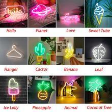 LED néons tenture murale salle anniversaire LED néon Art décoratif pour fête barre décor enseignes au néon coloré LED lampe au néon