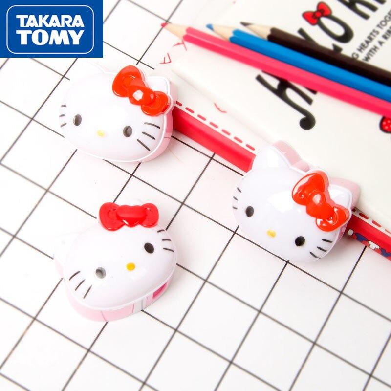 Забавная мультяшная точилка для карандашей TAKARA TOMY Hello Kitty с одним отверстием, простые креативные школьные принадлежности для учеников
