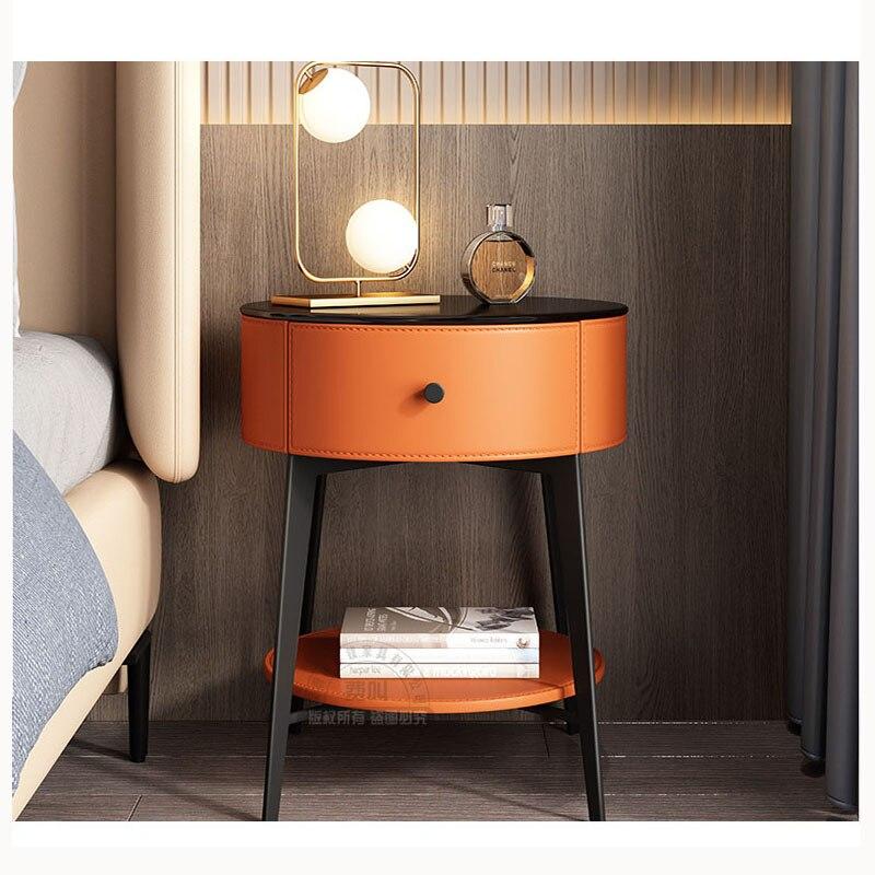 السرير الجدول الشمال الحديثة بسيطة ضوء الفاخرة الإيطالية الصغيرة الأسرة غرفة نوم الحديد خزانة خزانة بجوار السرير