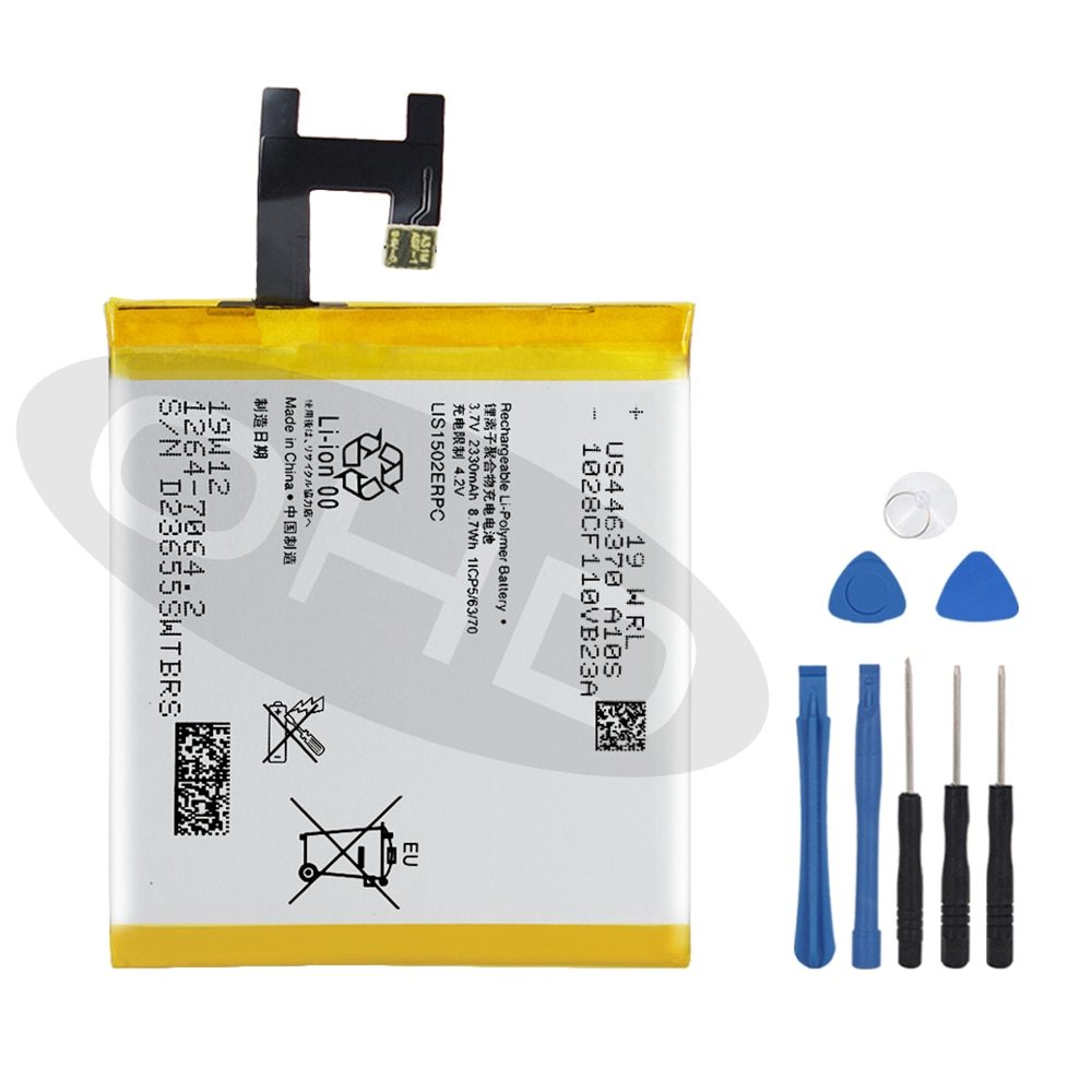 Batería Original de 2330mAh para SONY Xperia Z L36h L36i c6602 SO-02E C6603 S39H LIS1502ERPC batería de repuesto genuina