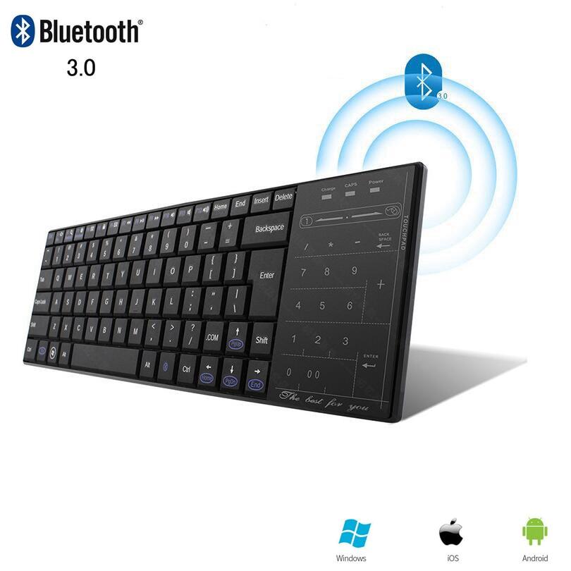 Panel táctil teclado inalámbrico Bluetooth con modo de ratón, pequeño teclado de ordenador, teclado táctil Ultra delgado BT, teclado para iPhone iPad Mac
